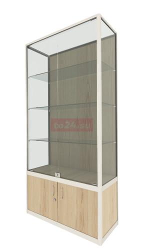 Витрина профильная с 2 запирающимися стеклянными дверцами - модель 59 фото