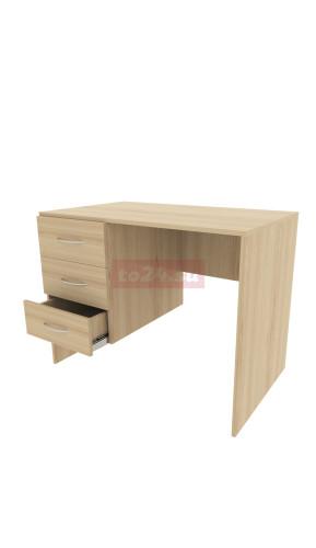 Стол офисный с 3 выдвижными ящиками из ЛДСП - модель 3