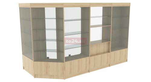 Павильон торговый из витрин ЛДСП 4 м — модель 11