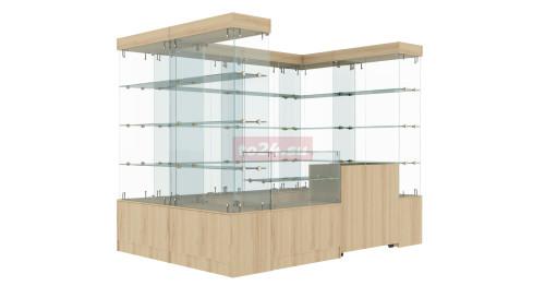 Павильон торговый прямоугольный из стеклянных витрин — модель 29
