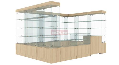 Павильон торговый большой из стеклянных витрин большой  — модель 31