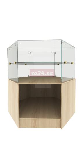 Прилавок стеклянный шестигранной формы— модель 37
