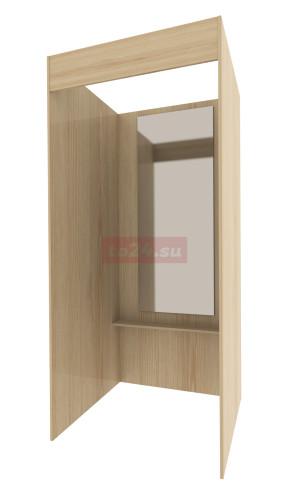 Примерочная с зеркалом квадратная из ЛДСП — модель 1